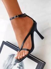 Square Toe Women Elegant Sexy Heeled Sandals