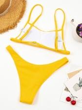 Sexy Solid Tank Bikini Sets Swimwear For Women