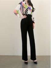 Temperament V Neck OL Style Business Trouser Sets