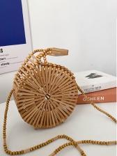 Bamboo Weaving Beach Shoulder Bags