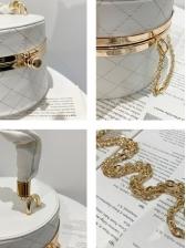 RhombusPlaid Chain Ladies Handbags