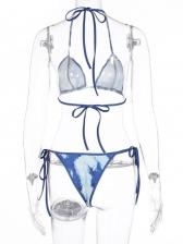 Sexy Tie Dye Two Piece Bikini Sets