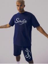 Letter Youthful Affordable Activewear For Men