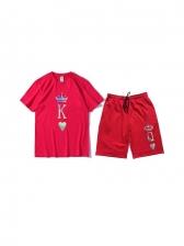 Letter Crown Pattern Fashion Wear Sets For Men