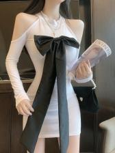 Sweet Long Sleeve Short Dress