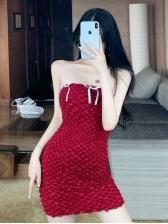 Trendy Bodycon Women Short Strapless Dress
