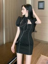 Vintage Puff Sleeve Dresses For Ladies
