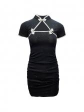 Fashionable Bodycon Short Sleeve Dress
