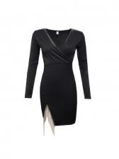 Slim Fit V Neck Dresses For Ladies