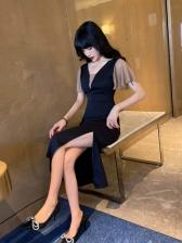 Fashion Ruffled Sleeve Dresses For Ladies