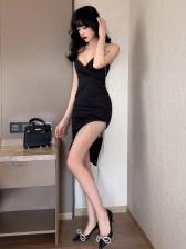 Summer V Neck Womens Sleeveless Dresses
