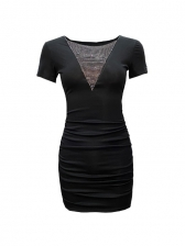 Summer Patchwork Bodycon Womens Dress