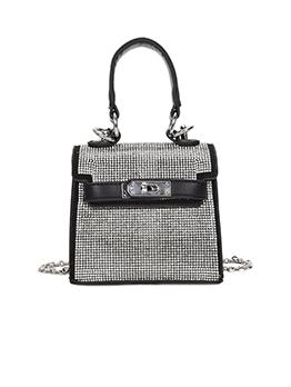 Popular Rhinestone Twist Lock Ladies Handbags