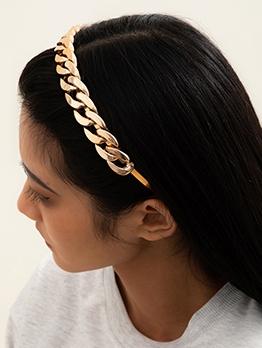 Solid Twist Design Simple Iron Hair Hoop