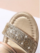 Fashion Sequined Patchwork Platform Wedges
