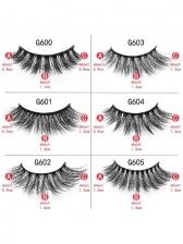 Stylish 10 Pieces False Eyelashes Sets With Tweezers