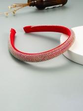 Stylish Solid Full Rhinestone Simple Hair Hoop