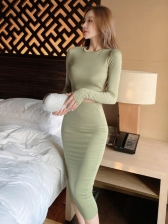 Casual High Waist Two Pieces Skirt Sets For Women