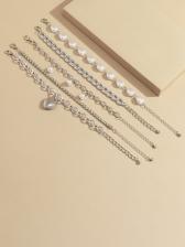 Vintage National Style Faux-Pearl Bracelet Sets