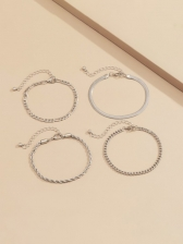 Simple Casual Easy Matching Solid Bracelet Sets