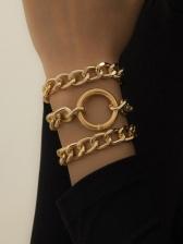 Fashion Street Snap Geometry Bracelet Sets Women