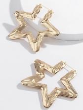 Trendy Simple Star Shape Metal Earrings