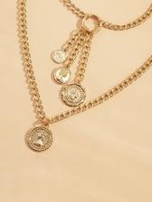 Vintage Style Women Pendant Layered Necklace