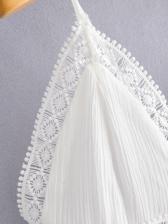 New White V Neck Camisole Maxi Dress