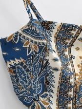 Irregular Print Cropped Silk Tank Top