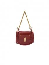 Twist Lock Chain Shoulder Bags