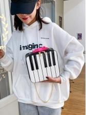 New Piano Design Chain Shoulder Bags