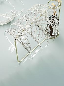 Metal Rhinestone Princess Bride Crown Hair Hoop