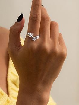 Rhinestone Butterfly Fashion Versatile Ring