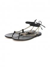 Chic Round Toe Slip On Summer Sandals