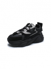 Fashion Round Toe Height Increasing Sneakers