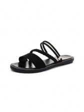 Versatile Round Toe Flat Sandals For Women