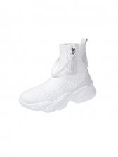 Fashion Color Block Women Ankle Boots