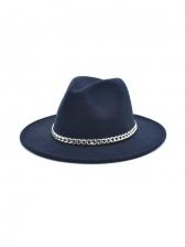 Chain Match Vintage Jazz Fedora Hats Unisex