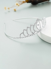 Fashion Full Rhinestone Crown Bride Hair Hoop