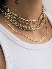 Punk Hip Hop Street Chain Necklace Sets