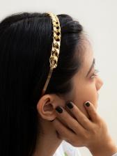 Simple Twist Design Metal Hair Hoop