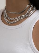 Stylish Punk Street Women Necklace Sets
