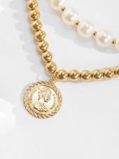 Vintage Style Faux-Pearl Fashion Necklace Sets