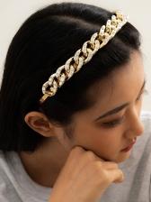 Stylish Vintage Noble Punk Rhinestone Hair Hoop