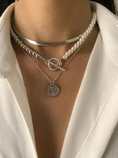 Retro Style Faux-Pearl Necklace Sets Women