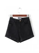 Summer Solid High Waist Denim Jeans