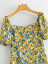 Summer Print Short Sleeve Dress