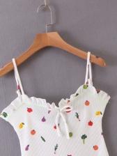 New Fruit Print Camisole Dress