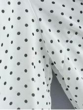 Spring Dot Loose Long Sleeve Blouse