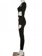 New Hollow Out High Waist Jumpsuit